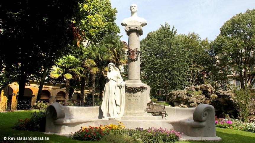José Limona y monumentoa Usandizaga