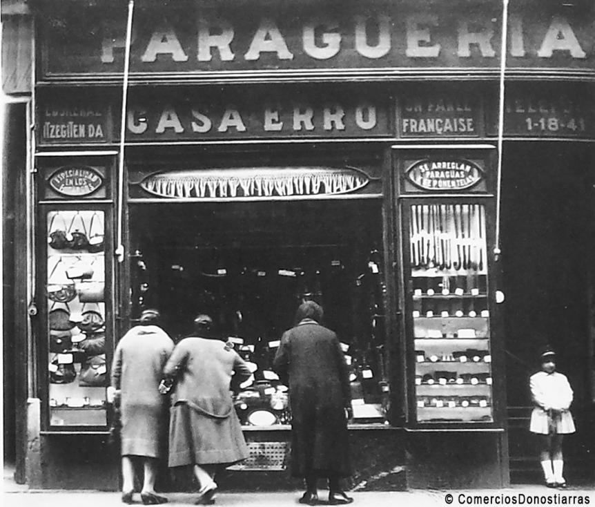Erro, un comercio centenario de San Sebastián