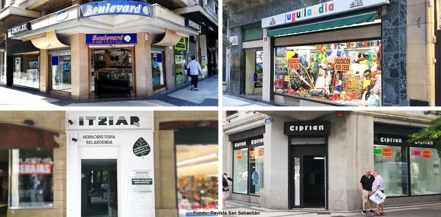 La gentrificación en el comercio de Donostia San Sebastián