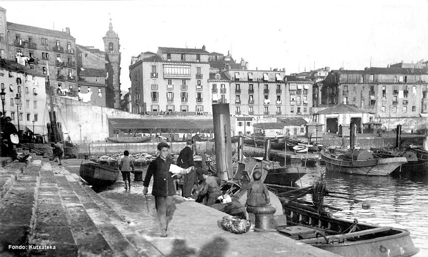 Los pescadores de San Sebastián hace un siglo
