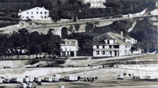 """La doble rampa del """"Paseo de los Baños"""" (antes de 1868)"""