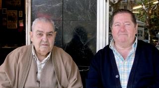 Donato Gasco y su buen amigo y compañero de oficio, Javier Mtz. de Marañón. 2010.
