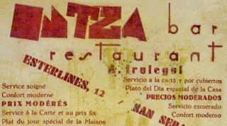 a del bar Intza. Años 30